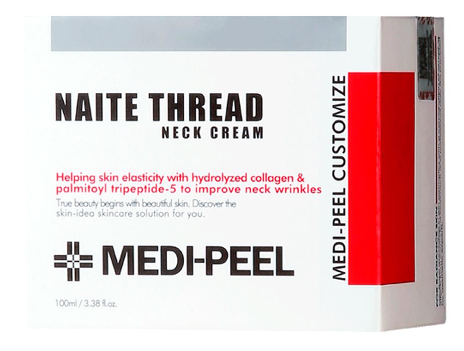 Пептидный крем для шеи и декольте Medi-Peel Naite Thread Neck Cream, 100мл - Фото №3
