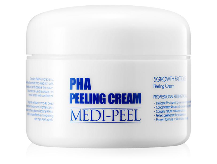 Ночной обновляющий пилинг-крем для лица с PHA-кислотами и пептидами Medi-Peel PHA Peeling Cream, 50мл