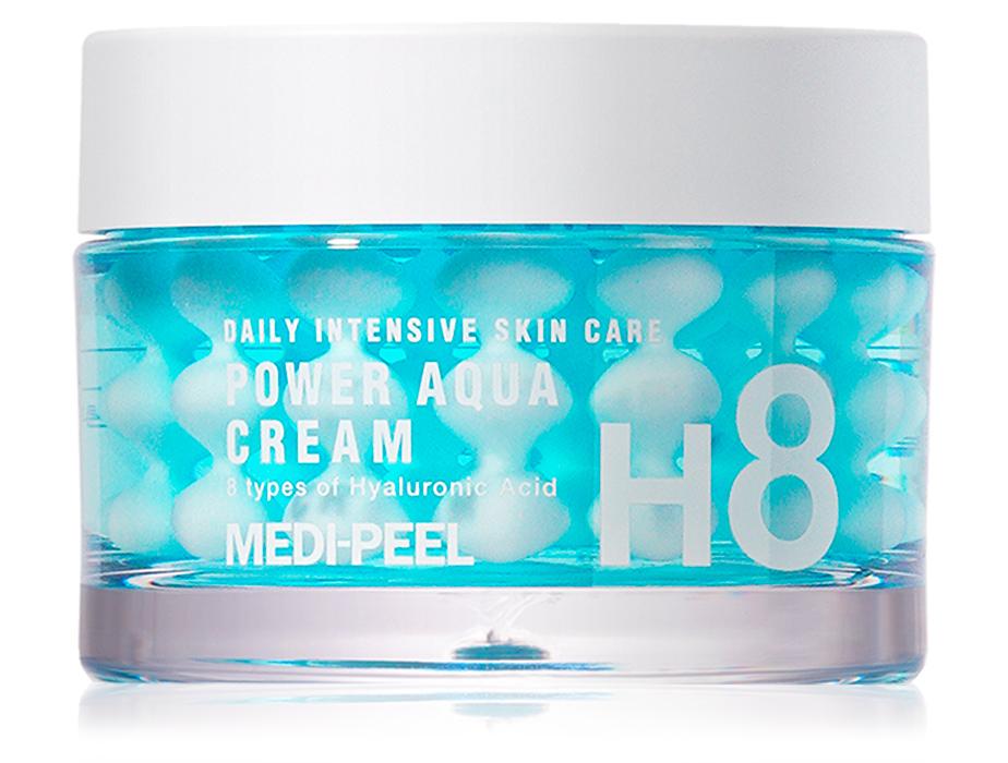 Увлажняющий крем для лица с пептидными капсулами Medi-Peel Power Aqua Cream, 50мл - Фото №1