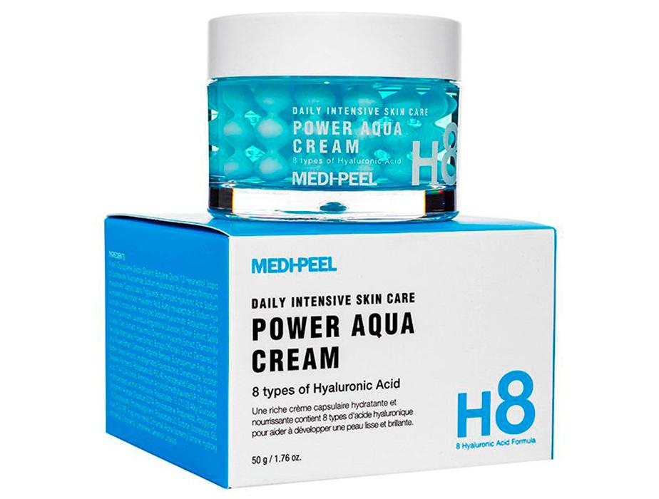 Увлажняющий крем для лица с пептидными капсулами Medi-Peel Power Aqua Cream, 50мл - Фото №2