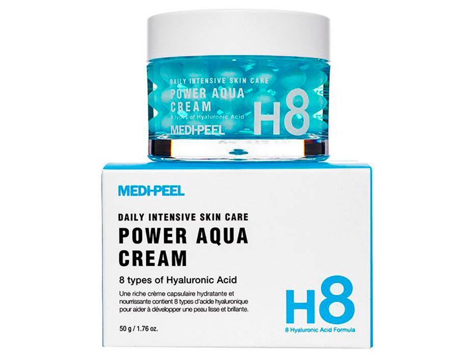 Увлажняющий крем для лица с пептидными капсулами Medi-Peel Power Aqua Cream, 50мл - Фото №3
