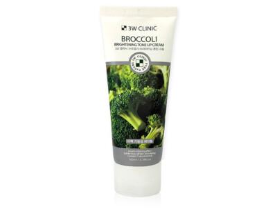 Осветляющий крем для улучшения тона кожи лица с экстрактом брокколи 3W Clinic Broccoli Brightening Tone Up Cream, 100мл - Фото №1