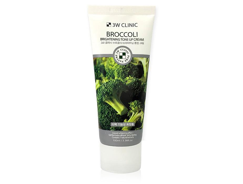 Осветляющий крем для улучшения тона кожи лица с экстрактом брокколи 3W Clinic Broccoli Brightening Tone Up Cream, 100мл