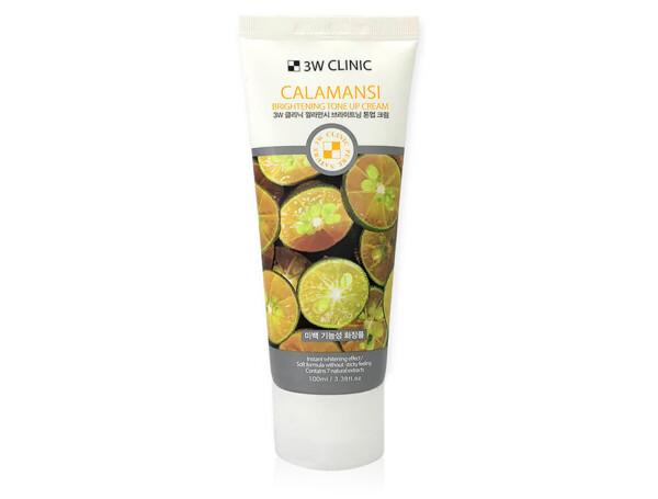 Осветляющий крем для улучшения тона кожи лица с экстрактом каламондина 3W Clinic Calamansi Brightening Tone Up Cream, 100мл - Фото №1