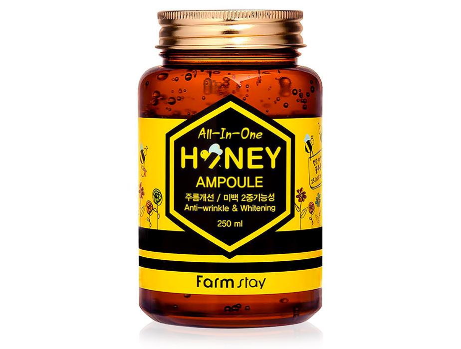 Многофункциональная сыворотка для лица с экстрактом меда FarmStay AII-In-One Honey Ampoule, 250мл - Фото №1