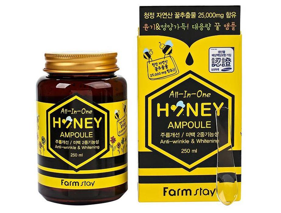 Многофункциональная сыворотка для лица с экстрактом меда FarmStay AII-In-One Honey Ampoule, 250мл - Фото №3