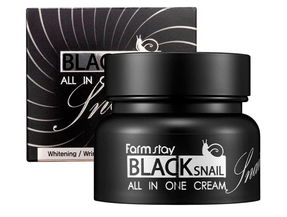 Многофункциональный крем для век с фильтратом улиточной слизи FarmStay Black Snail All In One Eye Cream, 50мл - Фото №2