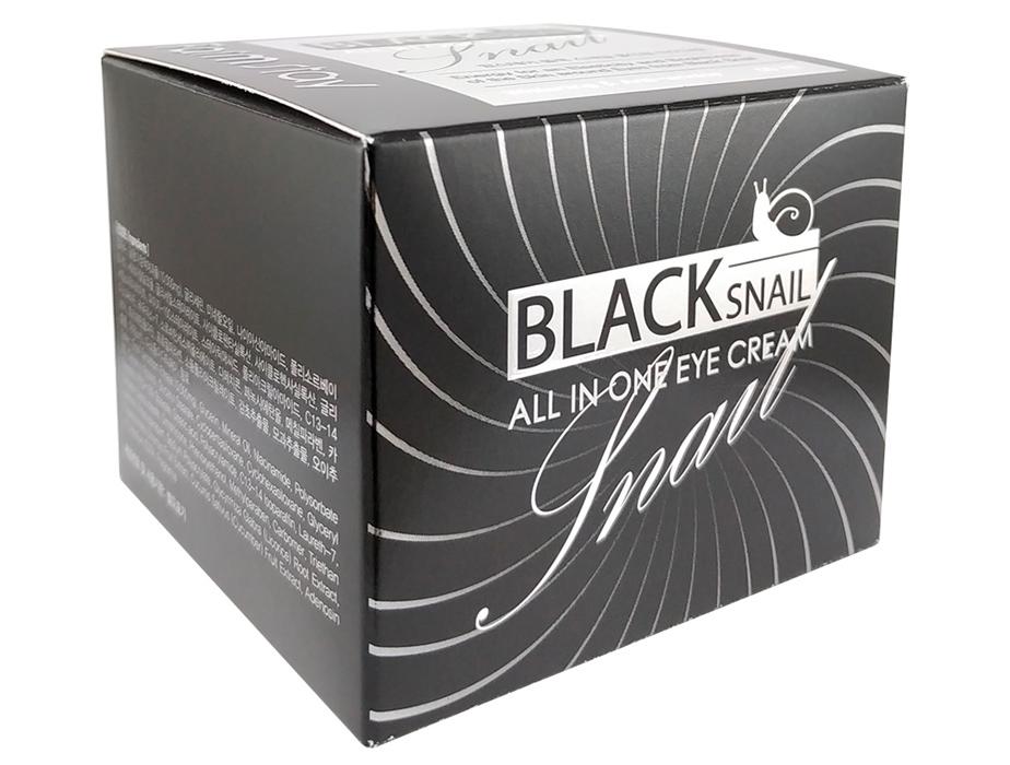 Многофункциональный крем для век с фильтратом улиточной слизи FarmStay Black Snail All In One Eye Cream, 50мл - Фото №4
