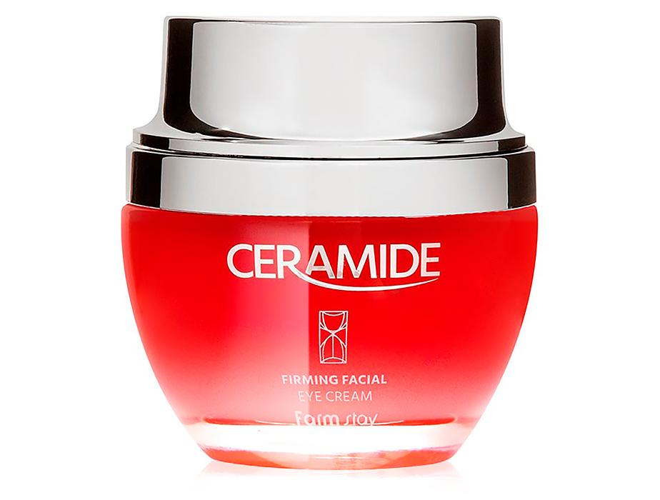 Крем для упругости кожи вокруг глаз с керамидами FarmStay Ceramide Firming Facial Eye Cream, 50мл - Фото №1