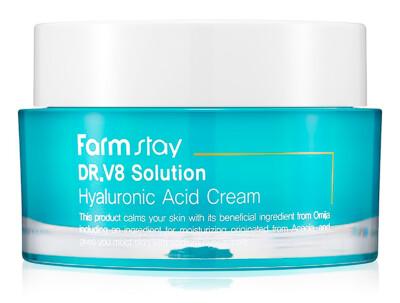Интенсивно увлажняющий крем для лица с гиалуроновой кислотой FarmStay DR.V8 Solution Hyaluronic Acid Cream, 50мл - Фото №1