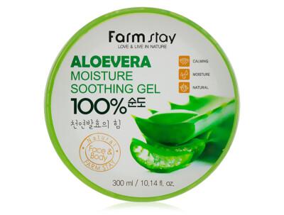 Многофункциональный гель для лица и тела с экстрактом алоэ FarmStay Moisture Soothing Gel Aloevera 100%, 300мл - Фото №1