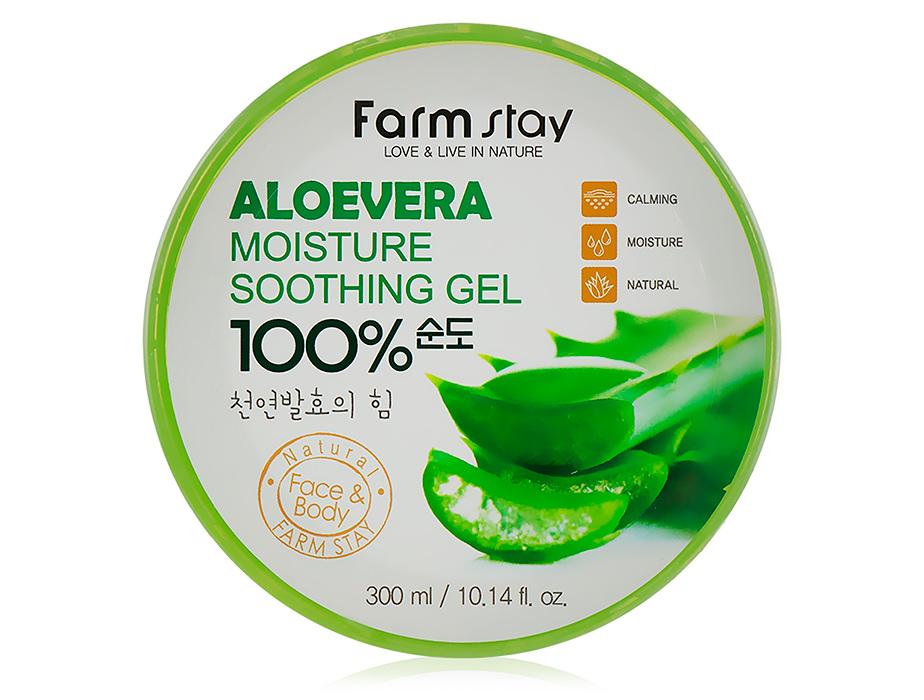 Farmstay Aloevera Moisture Soothing Gel 100%, 300 ml - Фото №1