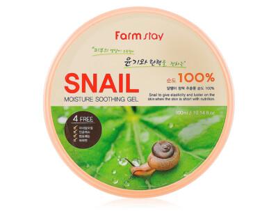 Увлажняющий гель для лица и тела с экстрактом слизи улитки FarmStay Moisture Soothing Gel Snail, 300мл - Фото №1