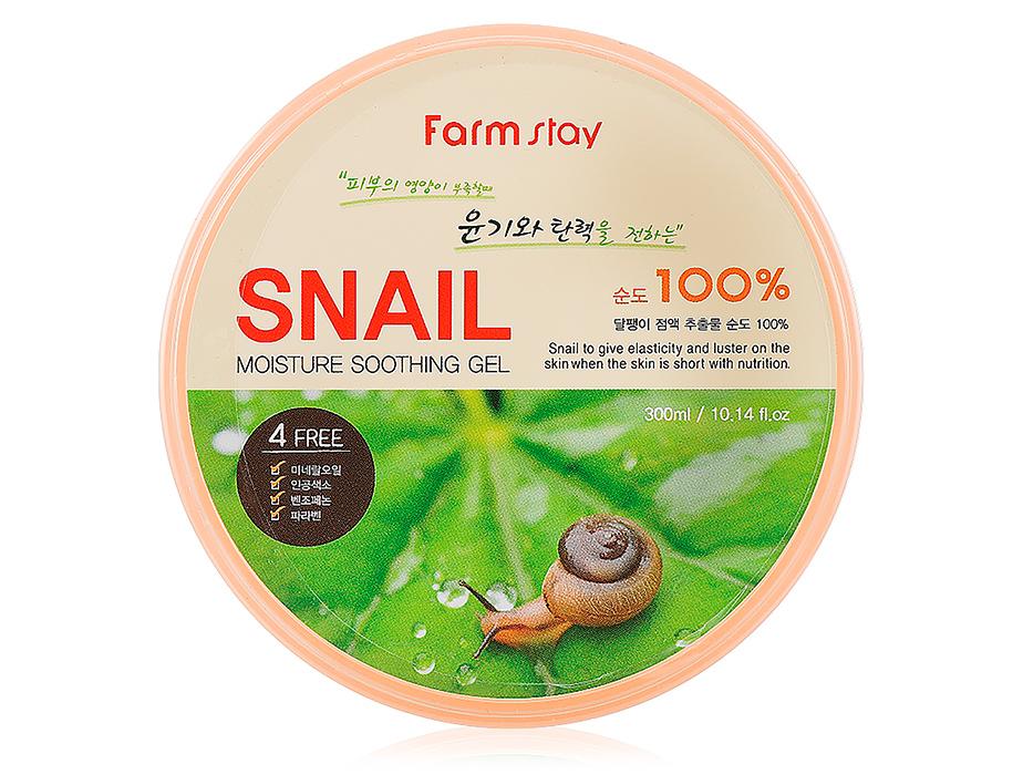 Farmstay Moisture Soothing Gel Snail 100%, 300 ml - Фото №1