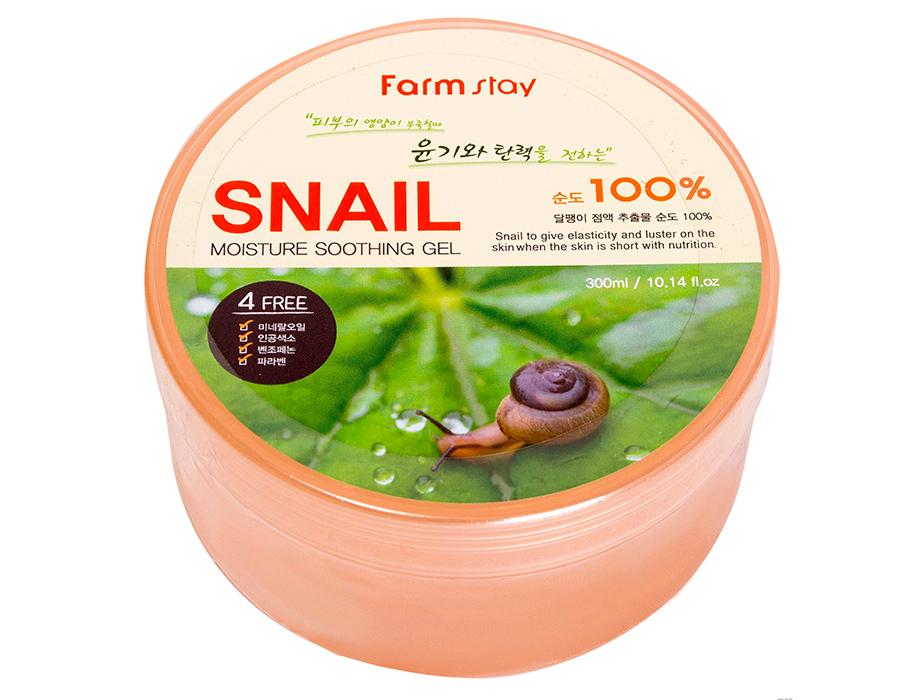 Farmstay Moisture Soothing Gel Snail 100%, 300 ml - Фото №2