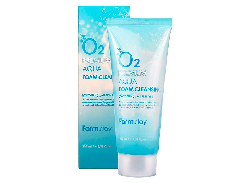 Кислородная пенка для лица FarmStay O2 Premium Aqua Foam Cleansing, 100мл - Фото №3