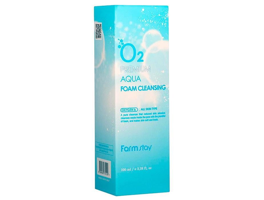 Кислородная пенка для лица FarmStay O2 Premium Aqua Foam Cleansing, 100мл - Фото №4