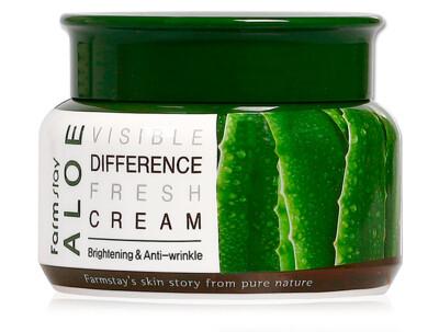 Успокаивающий крем для лица с экстрактом алоэ вера FarmStay Visible Difference Fresh Cream Aloe, 100мл - Фото №1