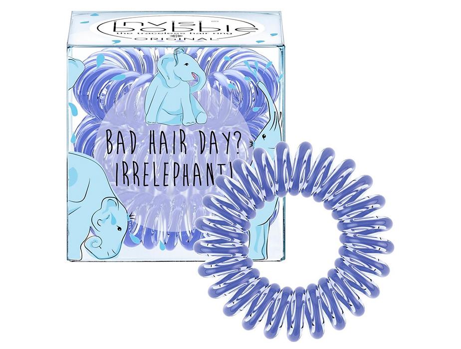 Резинка-браслет для волос Invisibobble Original Bad Hair Day? Irrelephant!, 3шт - Фото №1