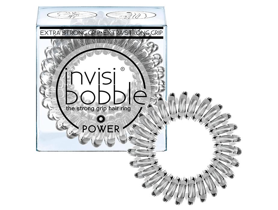 Резинка-браслет для волос Invisibobble Power Crystal Clear, 3шт - Фото №1