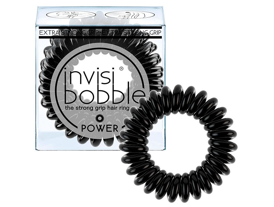 Резинка-браслет для волос Invisibobble Power True Black, 3шт - Фото №1