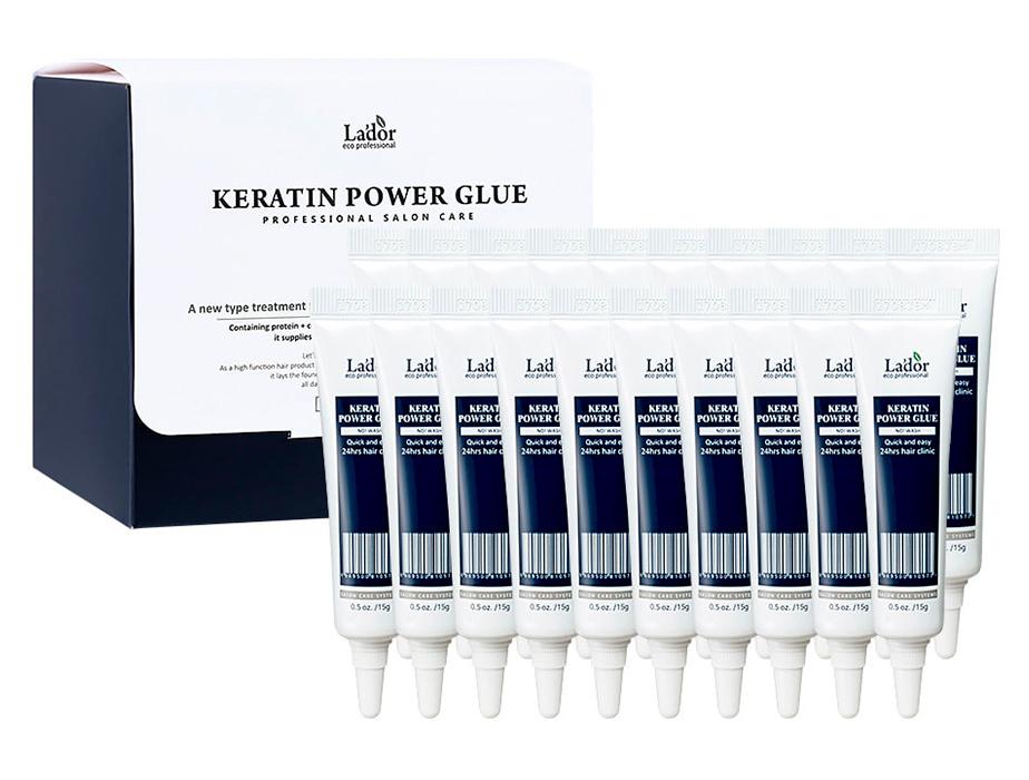 Сыворотка-клей для восстановления кончиков волос Lador Keratin Power Glue, 20шт по 15г