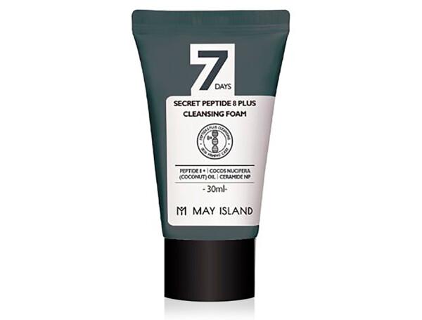 Очищающая пенка для лица с пептидным комплексом May Island 7 Days Secret Peptide 8 Plus Cleansing Foam, 30мл - Фото №1