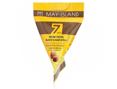 Сахарный скраб для лица May Island 7 Days Secret Royal Black Sugar Scrub, 5г - Фото №1