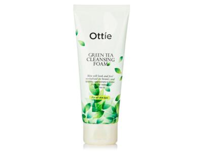 Пенка для умывания с зеленым чаем Ottie Green Tea Cleansing Foam, 150мл - Фото №1
