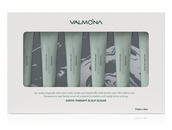 Очищающая пилинг-сыворотка для кожи головы Valmona Earth Therapy Scalp Scaler, 6шт по 15мл - Фото №1