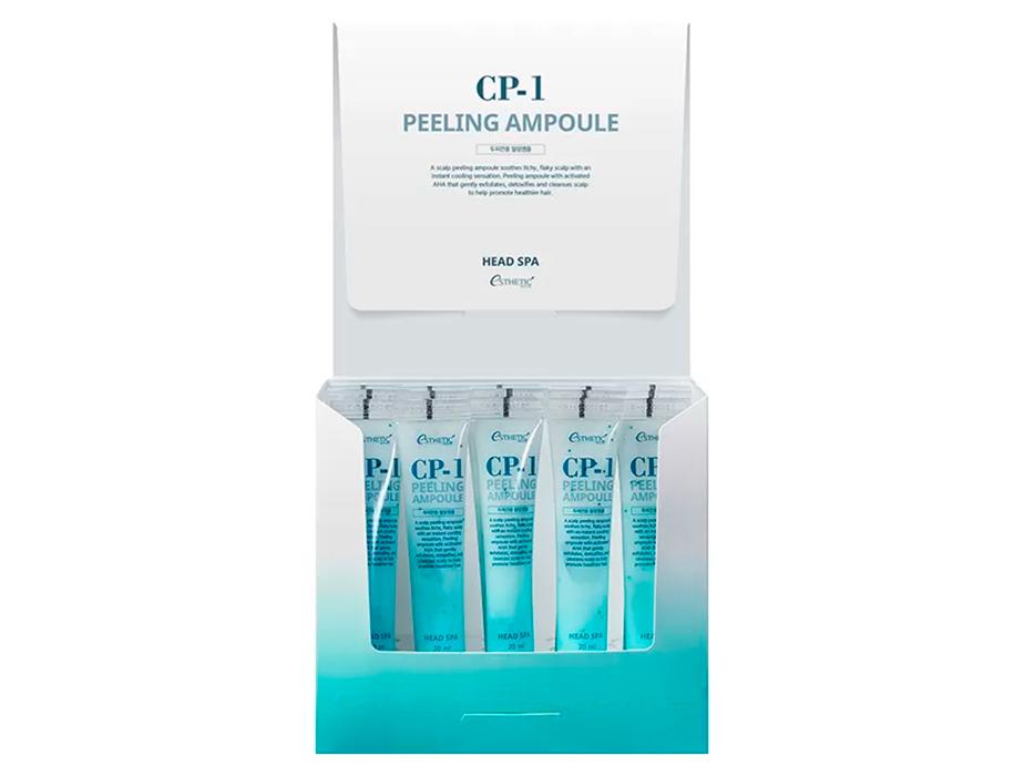 Пилинг-сыворотка для эффективного очищения кожи головы Esthetic House CP-1 Head Spa Peeling Ampoule, 20шт по 20мл - Фото №2