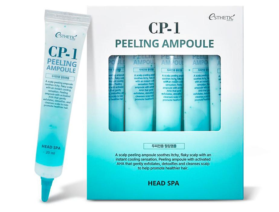Пилинг-сыворотка для эффективного очищения кожи головы Esthetic House CP-1 Head Spa Peeling Ampoule, 5шт по 20мл