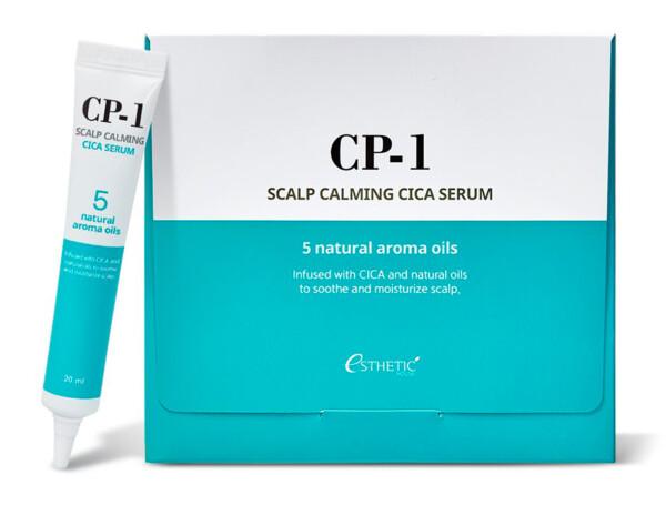 Успокаивающая сыворотка для кожи головы Esthetic House CP-1 Scalp Calming Cica Serum, 20шт по 20мл - Фото №1