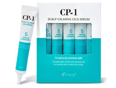 Успокаивающая сыворотка для кожи головы Esthetic House CP-1 Scalp Calming Cica Serum, 5шт по 20мл - Фото №1