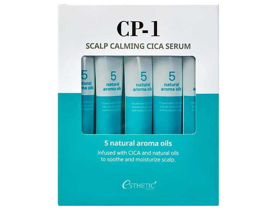 Успокаивающая сыворотка для кожи головы Esthetic House CP-1 Scalp Calming Cica Serum, 5шт по 20мл - Фото №2