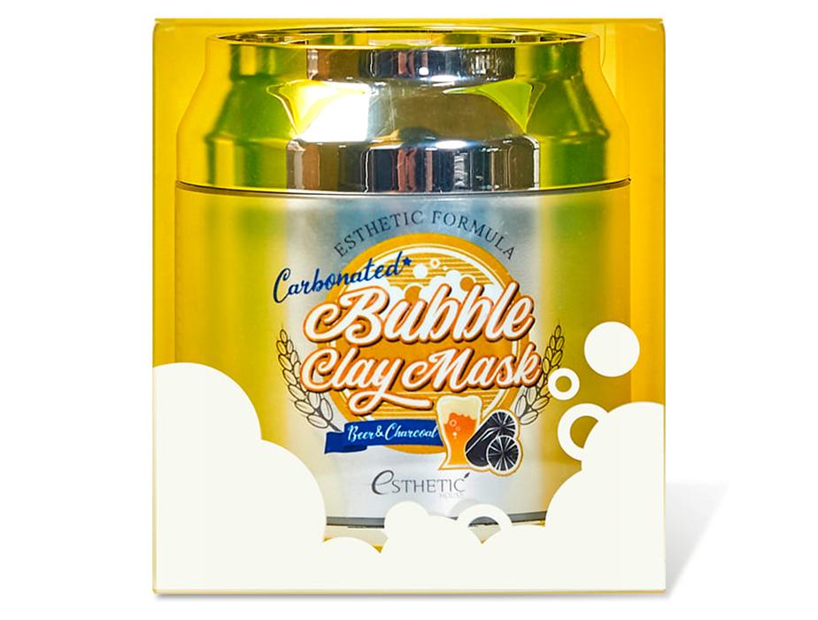Очищающая пузырьковая маска для кожи лица Esthetic House Esthetic Formula Carbonated Bubble Clay Mask, 80мл - Фото №2