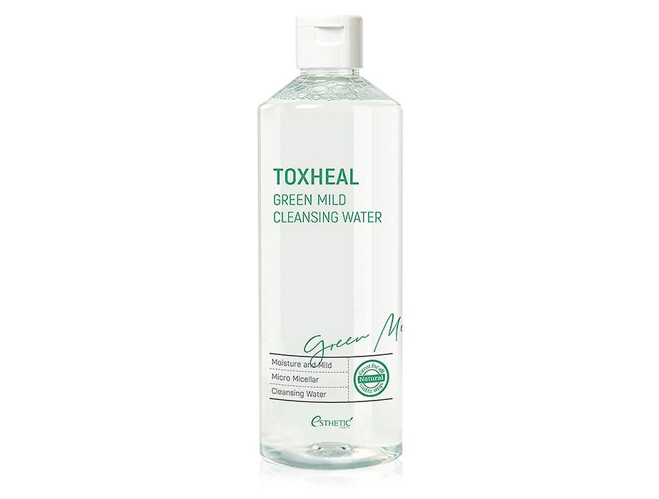 Мицеллярная вода для снятия макияжа Esthetic House Toxheal Green Mild Cleansing Water, 530мл