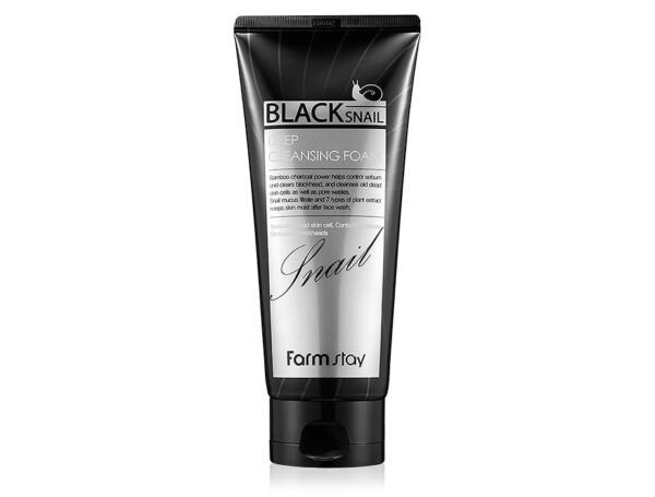 Увлажняющая пенка для лица с муцином черной улитки FarmStay Black Snail Deep Cleansing Foam, 180мл - Фото №1