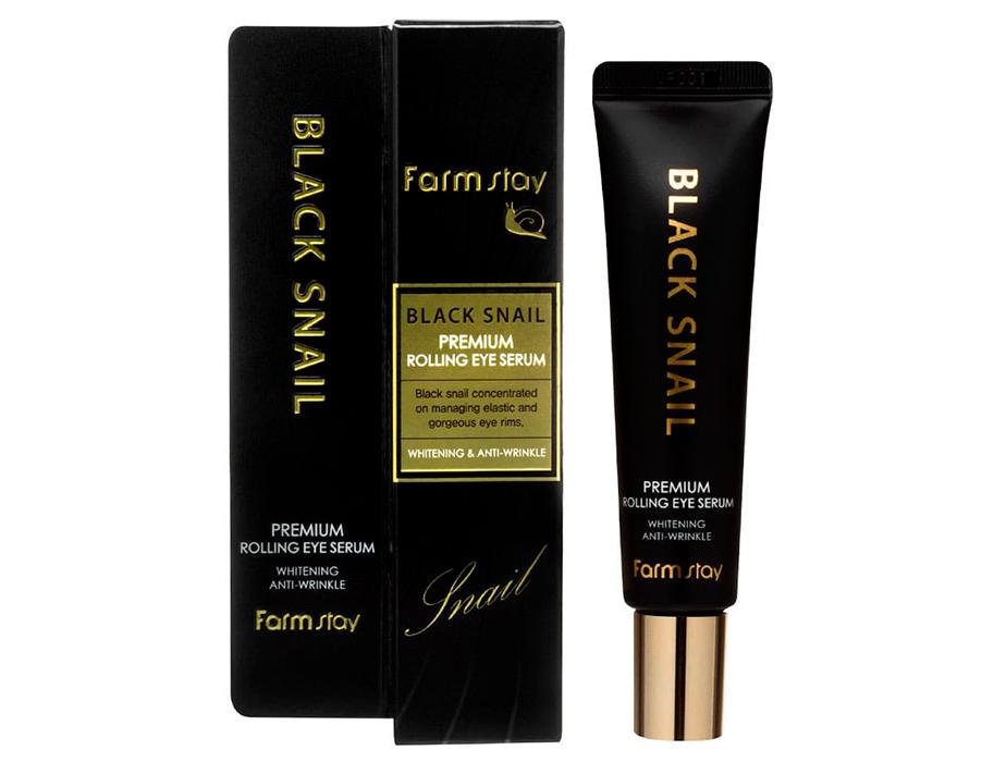 Сыворотка-роллер для кожи вокруг глаз FarmStay Black Snail Premium Rolling Eye Serum, 25мл - Фото №2