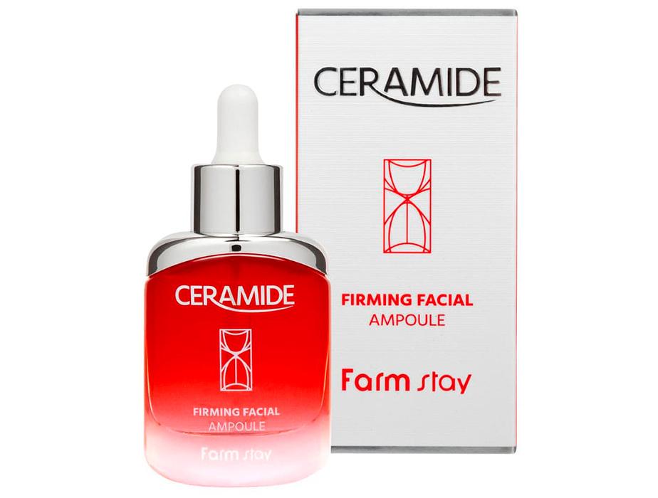 Укрепляющая сыворотка для лица с керамидами FarmStay Ceramide Firming Facial Ampoule, 35мл - Фото №2
