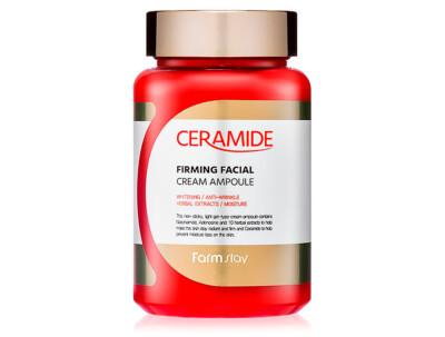 Укрепляющий ампульный крем для лица с керамидами FarmStay Ceramide Firming Facial Cream Ampoule, 250мл - Фото №1