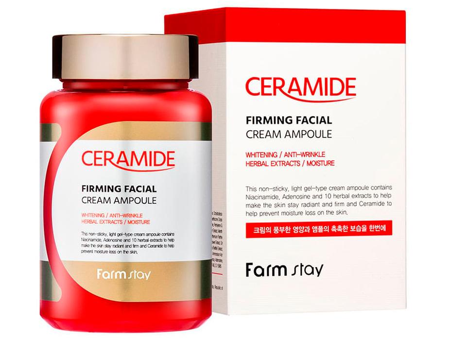 Укрепляющий ампульный крем для лица с керамидами FarmStay Ceramide Firming Facial Cream Ampoule, 250мл - Фото №2