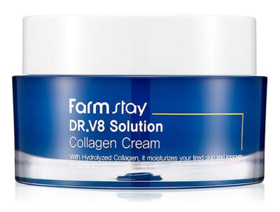 Интенсивно увлажняющий крем для лица с коллагеном FarmStay DR.V8 Solution Collagen Cream, 50мл - Фото №1