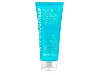 Многофункциональный гель для лица и тела с гиалуроновой кислотой FarmStay Hyaluronic Acid Multi Aqua Soothing Gel, 200мл - Фото №1