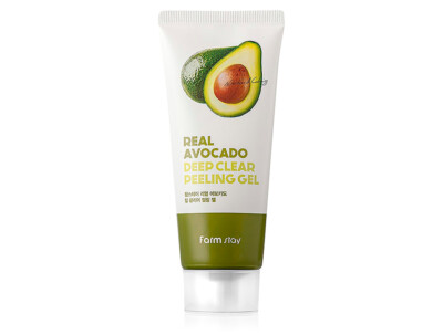Пилинг-гель для лица с экстрактом авокадо FarmStay Real Avocado Deep Clear Peeling Gel, 100мл - Фото №1
