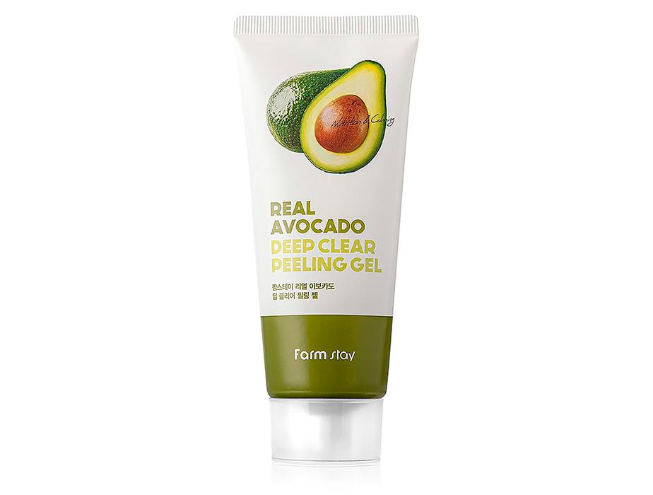 Пилинг-гель для лица с экстрактом авокадо FarmStay Real Avocado Deep Clear Peeling Gel, 100мл - Фото №1