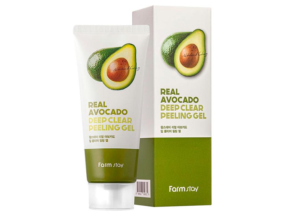 Пилинг-гель для лица с экстрактом авокадо FarmStay Real Avocado Deep Clear Peeling Gel, 100мл - Фото №2