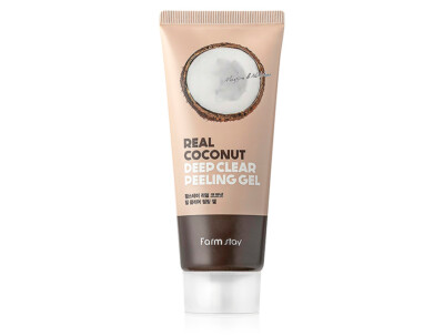 Пилинг-гель для лица с экстрактом кокоса FarmStay Real Coconut Deep Clear Peeling Gel, 100мл - Фото №1