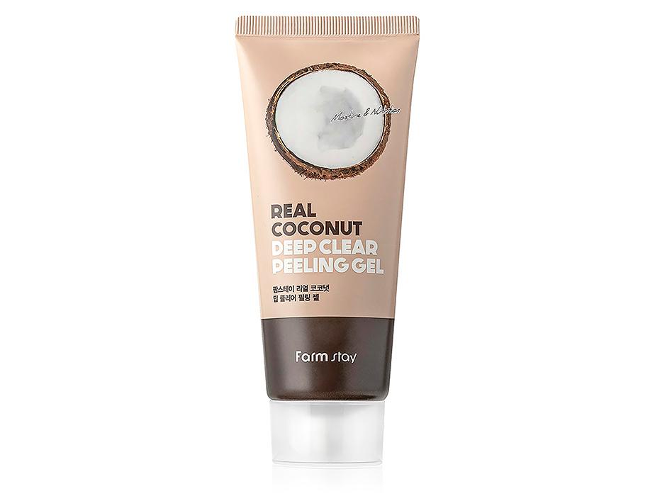 Пилинг-гель для лица с экстрактом кокоса FarmStay Real Coconut Deep Clear Peeling Gel, 100мл - Фото №1