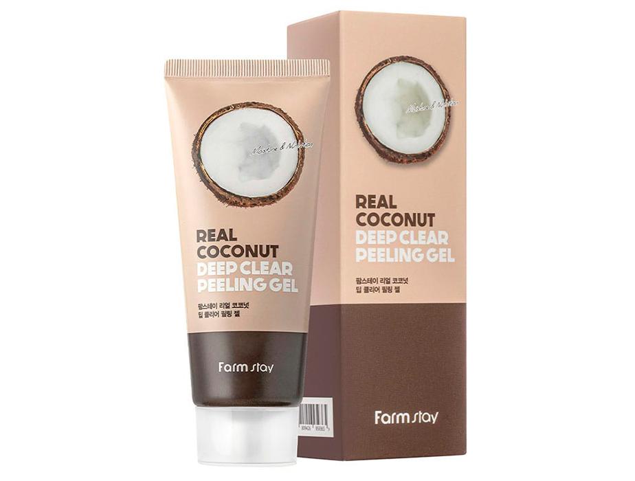 Пилинг-гель для лица с экстрактом кокоса FarmStay Real Coconut Deep Clear Peeling Gel, 100мл - Фото №2